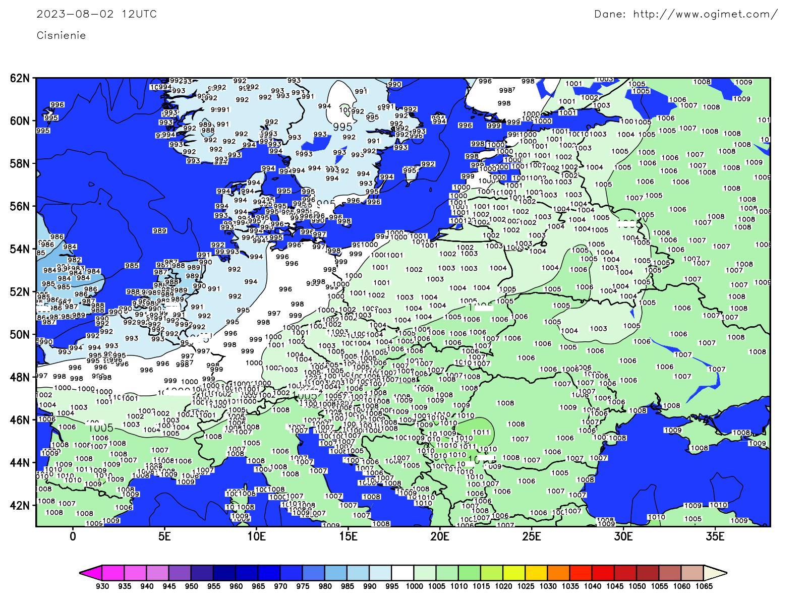 Prognoza ECMWF - Pogoda i Klimat