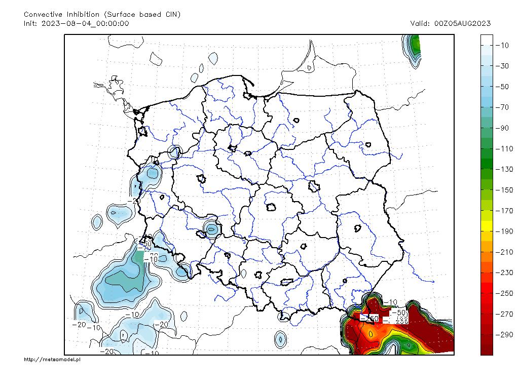 Parametr CINSFC - mapka