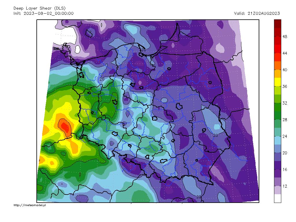Parametr DLS - mapka