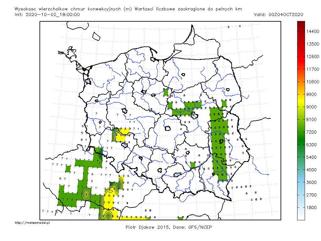 Parametr HGTCCT - mapka