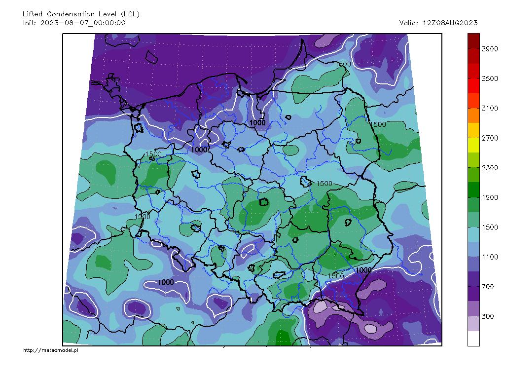 Parametr LCL - mapka