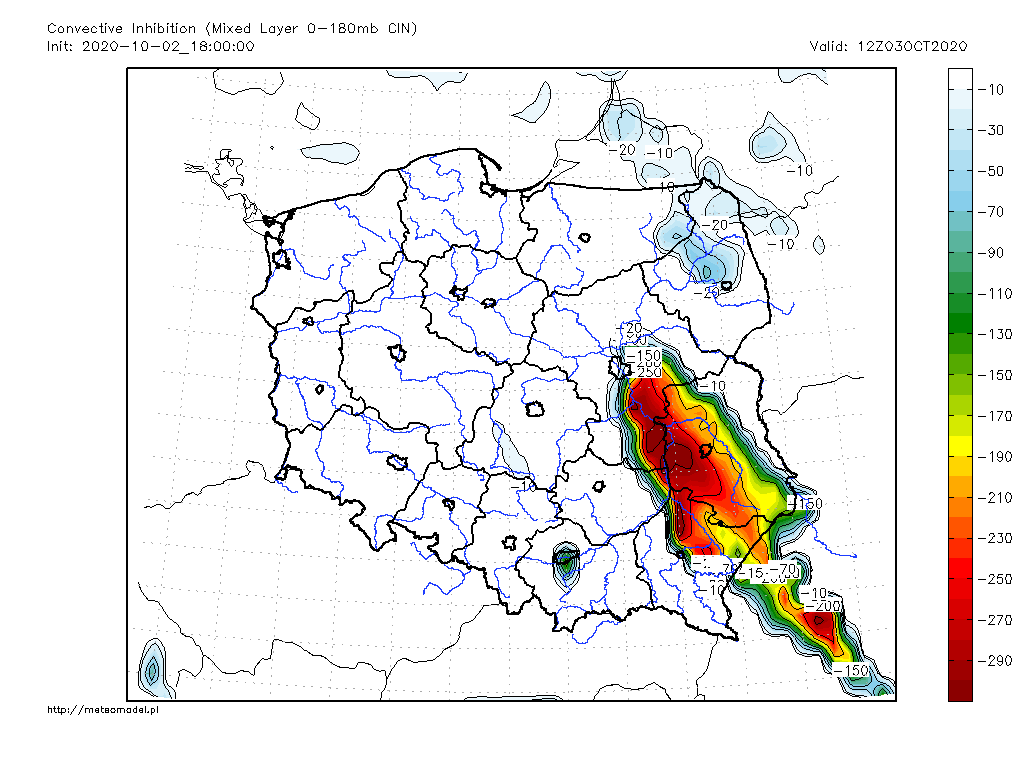 Parametr MLCIN - mapka