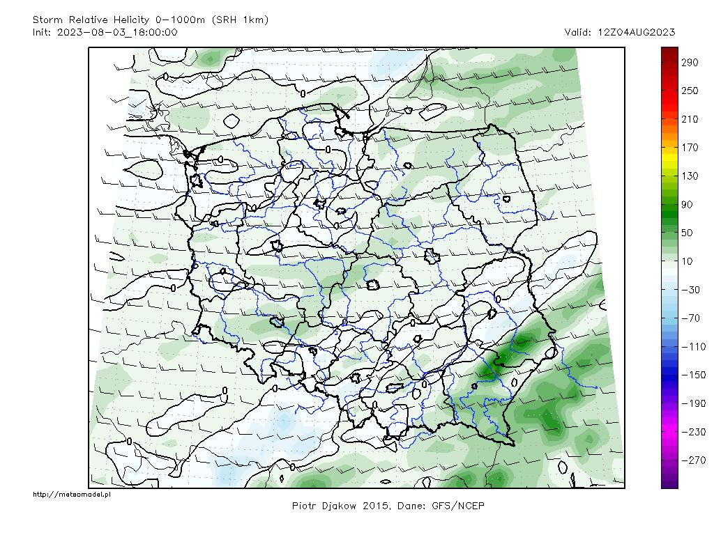 Parametr SRH1 - mapka