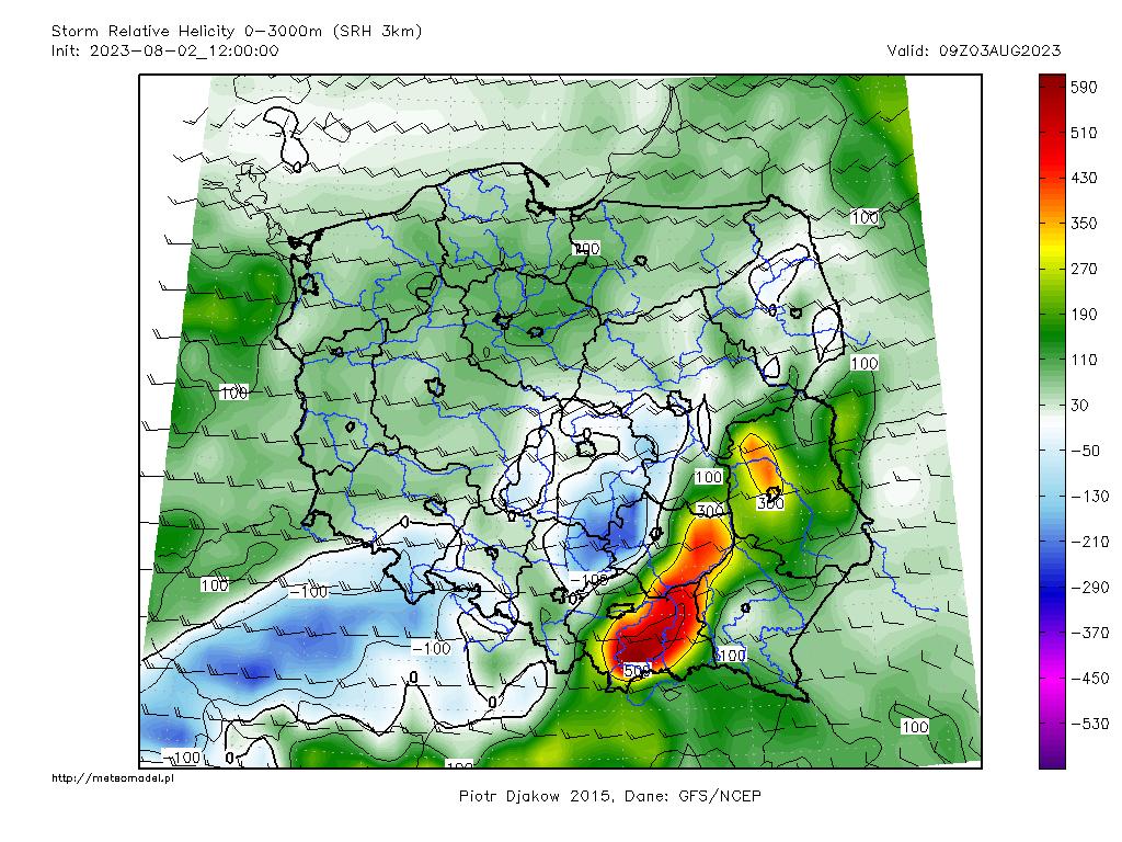 Parametr SRH3 - mapka