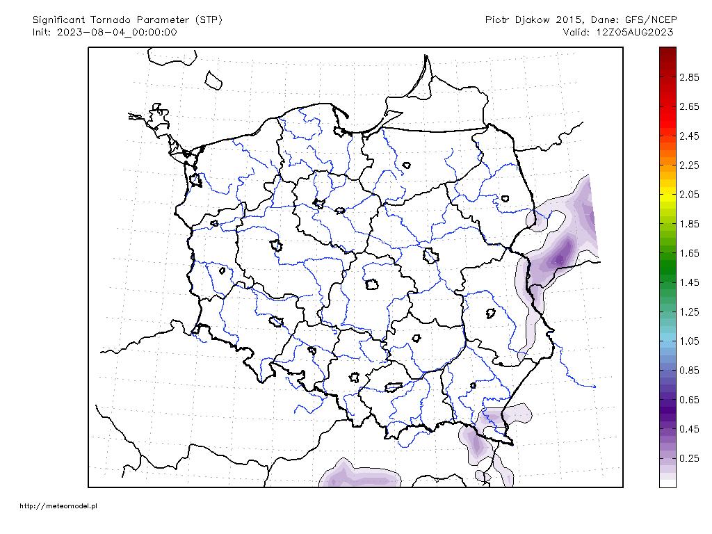 Parametr STP - mapka